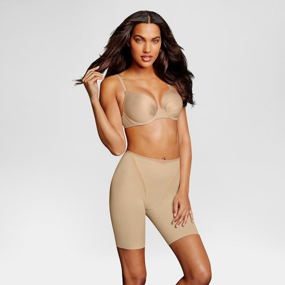 Maidenform Other - Maidenform Firm Foundations Thigh Shapers Beige